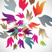 Stock Illustration of abstract background: wing