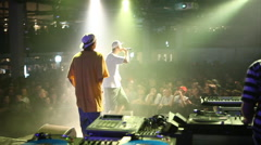 Hip hop performance two artists Stock Footage
