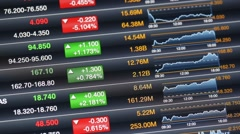 stock market data on led display - stock footage