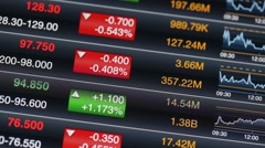 Stock market data on led display Stock Footage