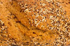 wholemeal bread - stock photo