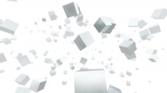 Rotating metal cubes - stock footage