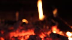 Fire in the oven Stock Footage