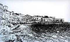 Chania on island of Crete, Greece Stock Illustration