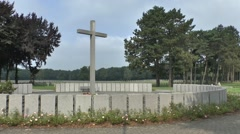 Large cross in the Ysselsteyn German Cemetery,  Limburg, Netherlands.. Stock Footage
