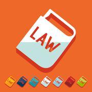 Flat design: constitution - stock illustration