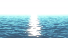Sparkling wavy water surface and bright lights Stock Footage