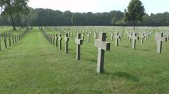 The Ysselsteyn German Cemetery, Limburg, Netherlands. Stock Footage