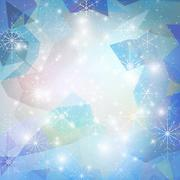 Winter background with snowflakes. Abstract winter design and website template, Stock Illustration