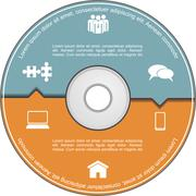 Infographics template with compact disk. Vector Stock Illustration