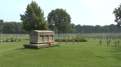 The Ysselsteyn German Cemetery,  Limburg, Netherlands. Stock Footage
