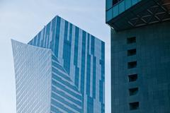 Modern architecture bank financial office tower building Stock Photos
