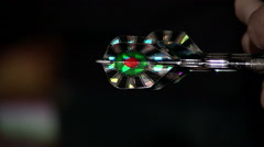 Darts dart in hand large Stock Footage