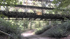 A World War Two bailey bridge close to the Overloon War Museum, Netherlands. Stock Footage