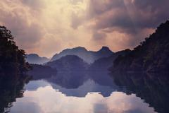 babe lake - stock photo