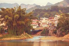 City in vietnam Stock Photos