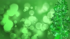 Emerald Green Festive Christmas Tree Abstract Motion Background Stock Footage