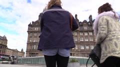 Scotland. Edinburgh, Balmoral Hotel Time Lapse Clouds Stock Footage