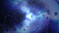 Time Travel Tunnel Concept Background Stock Footage