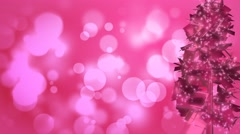 Bubble Gum Pink Festive Christmas Tree Abstract Motion Background Stock Footage