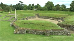 The Roman Theatre of Verulamium (St Albans), Hertfordshire, UK. Stock Footage