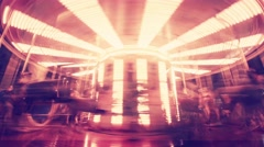 Seamless loop timelapse of merry-go-round - stock footage