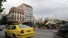 Stock Video Footage of Road traffic in Athens, Greece