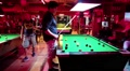 People playing billiards in billiards club in Pattaya, Thailand HD Footage