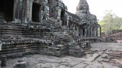 Angkor Thom temple complex in Siem Reap, Cambodia Stock Footage