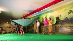 Cambodian theatre in local restaurant in Siem Reap city Stock Footage