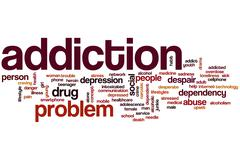 Addiction word cloud Stock Illustration