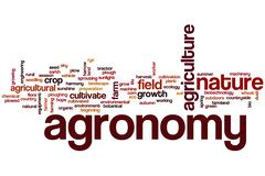 Agronomy word cloud Stock Illustration
