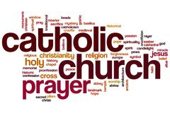 Catholic church word cloud Stock Illustration