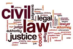Civil law word cloud Stock Illustration