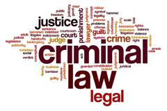 criminal law word cloud - stock illustration