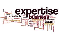 Expertise word cloud Stock Illustration