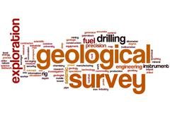 Geological survey word cloud Stock Illustration