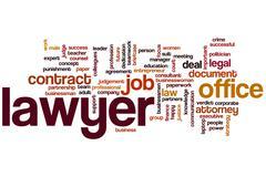 lawyer word cloud - stock illustration