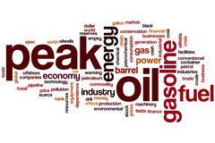 Peak oil word cloud Stock Illustration