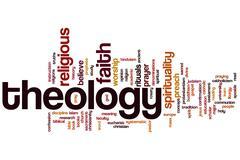 theology word cloud - stock illustration