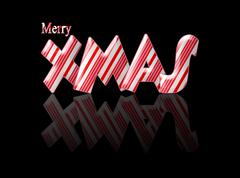 candy cane merry xmas christmas with reflection - stock illustration