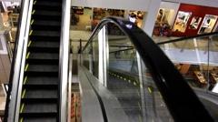 Malaysia. 31 july 2014. Shop escalator in shopping center. HD. 1920x1080 Stock Footage