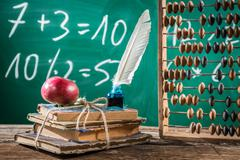 Mathematics classes in primary school Stock Photos