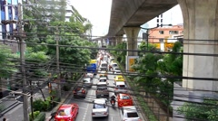Bangkok, Thailand 31 july 2014. Traffic day at Central World. HD. 1920x1080 Stock Footage