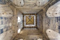 Bell tower of the basilica, inside view Stock Photos