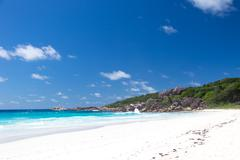 beach anse lazio - stock photo