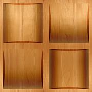 Wooden coffered paneling stacked for seamless background, veneer alder Stock Illustration