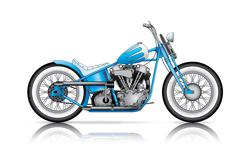 blue custom bobber - stock illustration