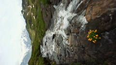 Water spring on Grindelwald Stock Footage