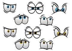 assorted eye emotion designs - stock illustration